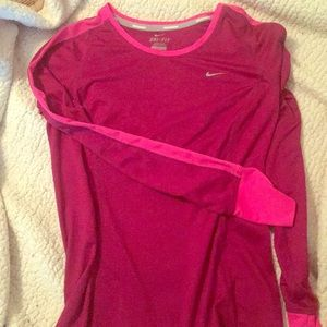 Nike long sleeve dri fit running top